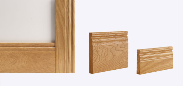 Oak Traditional Skirting & Architrave (Skirtings sold in Packs of 4) - Deanta Door Collection
