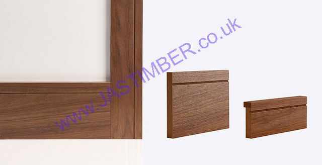 Walnut Shaker Skirting & Architrave (Skirtings sold in Packs of 5) - Deanta Door Collection