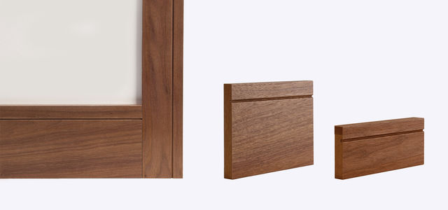 Walnut Shaker Skirting & Architrave (Skirtings sold in Packs of 4) - Deanta Door Collection
