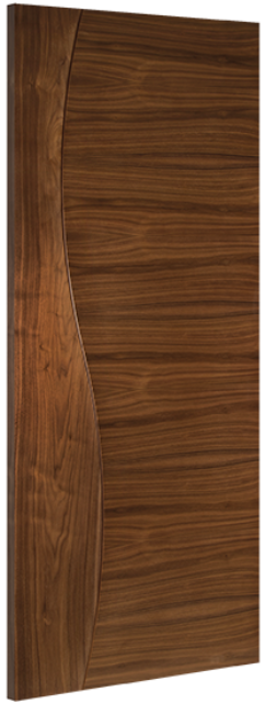 Cadiz Door: Flush *Pre-Finished Walnut* 35mm Internal - Deanta Doors®