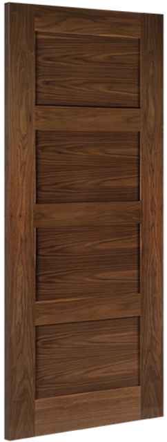 Coventry Walnut Door: 4-Panel *Pre-Finished Walnut* 35mm Internal Door - Deanta Doors®