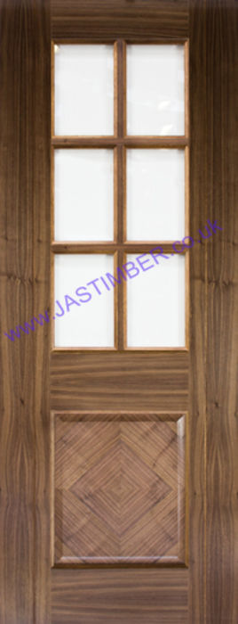 Deanta Kensington Glazed Walnut Door