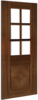 Kensington 6-light Glazed Walnut Internal Door