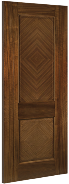 Kensington 2P Walnut Door: 2-Panel *PreFinished-Walnut* 35mm Internal - Deanta Doors