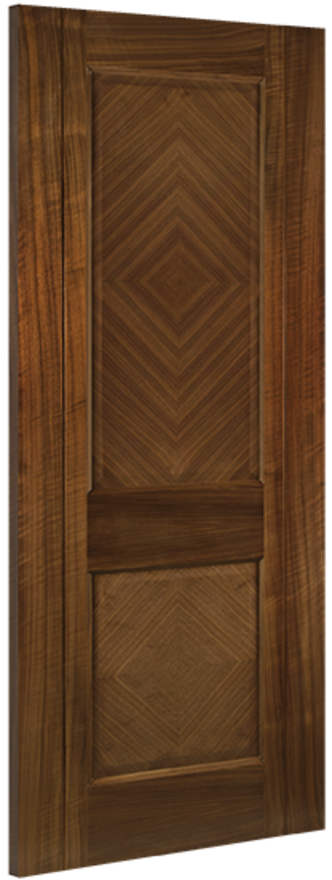 Kensington 2-Panel Walnut Internal Door