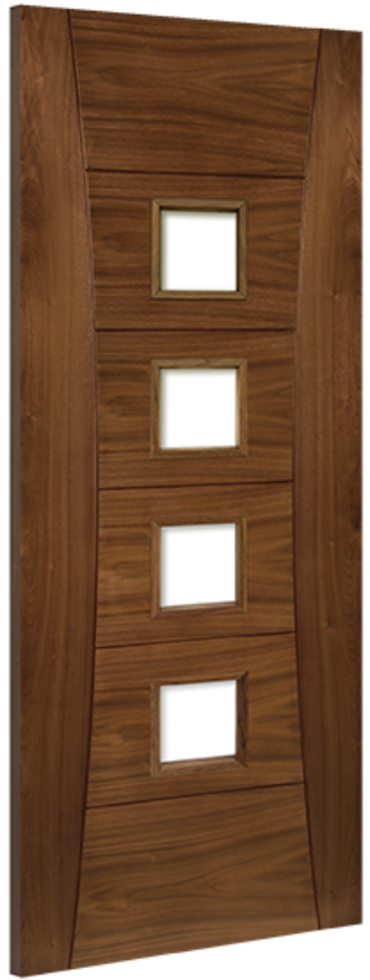 Pamplona 4-light Glazed Walnut Internal Door