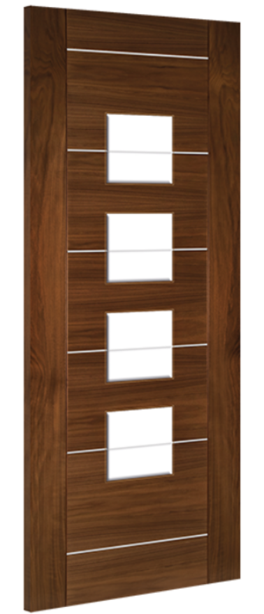 Deanta Valencia Glazed Walnut Door