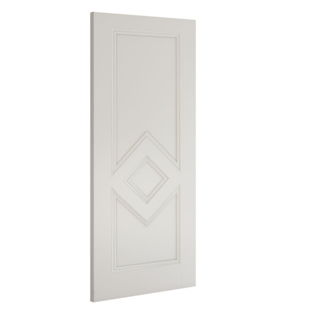 Ascot Door: 3-Panel White Primed 35mm Internal - Deanta Doors®