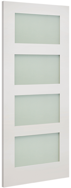 Coventry Clear Glazed Door: 4-light *Clear Toughened Glass* White Primed 35mm Internal Door - Deanta Doors®