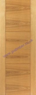 Photography of MISTRAL FIRE DOOR: FD30 V-Groove *OAK Veneer* 44mm Internal Fire Door - JB Kind Brisa Oak Doors