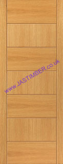 Photography of SIROCCO FIRE DOOR: FD30 V-Groove *OAK Veneer* 44mm Internal Fire Door - JB Kind Brisa Oak Doors