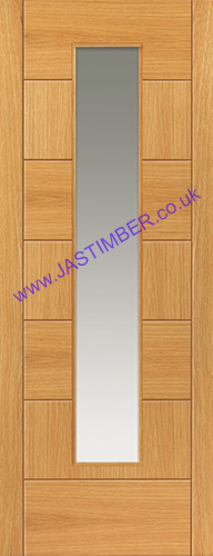 Sirocco Glazed Oak Door - JBK