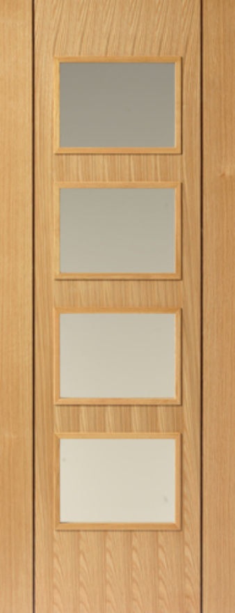 Blenheim 4-light Glazed Oak Internal Door
