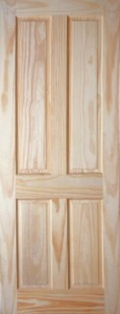 VICTORIAN DOOR: 4-Panel Clear Pine 35mm Internal Door - JB Kind Doors
