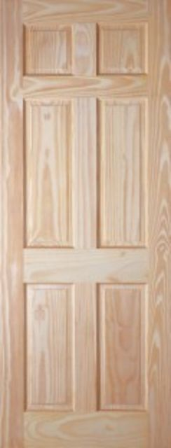 COLONIAL DOOR: 6-Panel Clear Pine 35mm Internal Door - JB Kind Doors