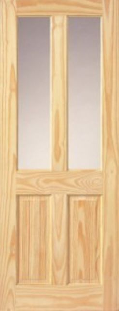 OXFORD Unglazed DOOR: 2-light *Unglazed* Clear Pine 35mm Internal Door - JB Kind Doors