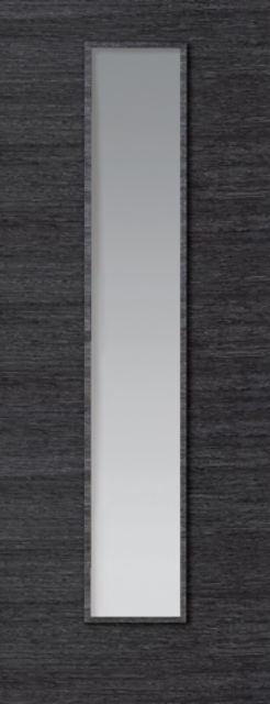 ECO GRIGIO Glazed DOOR: 1-light Glazed Flush Ash Grey 35mm Internal Pre-Finished Door - JB Kind Doors