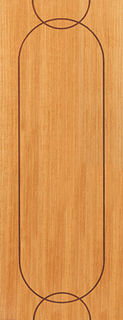 Photography of AGUA FIRE DOOR: FD30 V-Groove *OAK Veneer* 44mm Internal Fire Door - JB Kind Elements Oak Doors