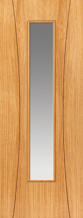 Arcos Glazed Oak Internal Door