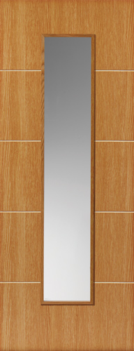 Louvre Glazed Oak Internal Door - JB Kind Doors