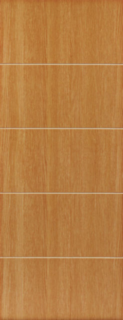 Tate Fire Door: FD30 *Light Oak Painted / Grooved* 44mm Internal Firecheck - JB Kind Painted Finish Fire Doors