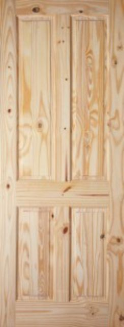 VICTORIAN DOOR: 4-Panel Knotty Pine 35mm Internal Door - JB Kind Doors