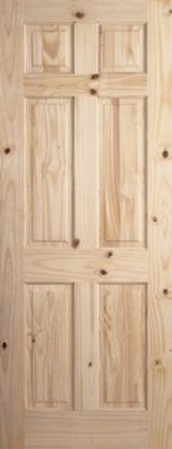 COLONIAL DOOR: 6-Panel Knotty Pine 35mm Internal Door - JB Kind Door