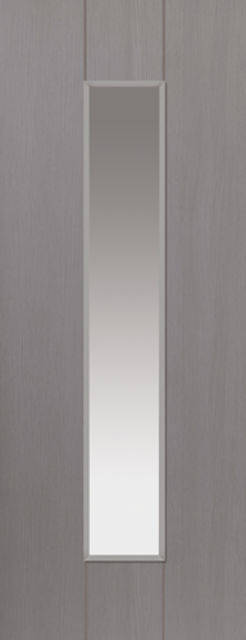 Ardosia Glazed Door: 1-light Glazed Slate Grey 35mm Internal Door - JB Kind Painted Finish Doors