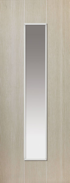 VIRIDIS Glazed DOOR: 1-light Glazed Creamy Green 35mm Internal Door - JB Kind Nuance Doors