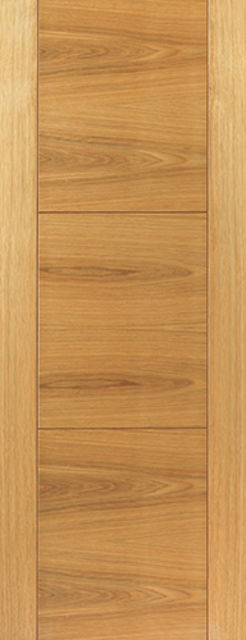 Mistral Door: V-Groove *Oak Veneer* 35mm Internal Door - JB Kind Oak Contemporary Doors