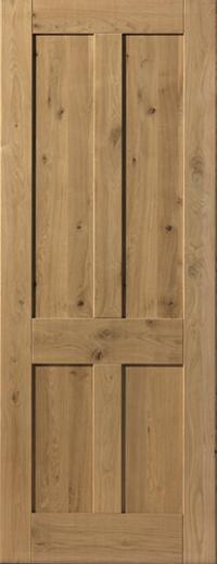 super popular f6841 ad57d Rustic 4 Panel Door: 4-Panel *Pre-Finished Oak* 35mm Internal Door - JB  Kind Oak Cottage Doors