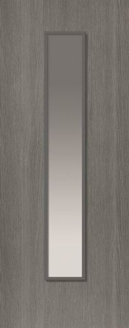 Pintado Glazed Door: 1-light Glazed Grey 35mm Internal Door - JB Kind Painted Finish Doors