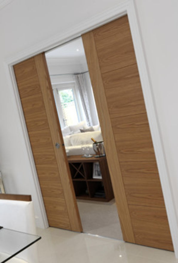 Double Pocket Door System Conversion Kit