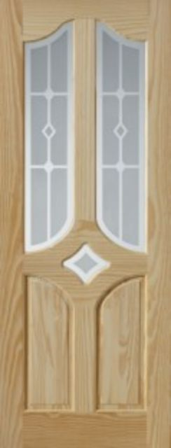 EISENHOWER Glazed DOOR: 3-light *EG* Clear Pine 35mm Internal Door - JB Kind Doors