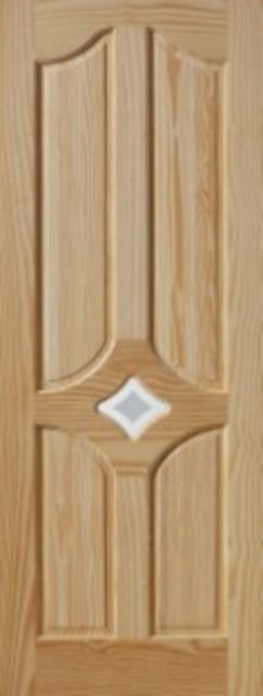 REAGAN DOOR: 78x30 4-Panel + 1-light Clear Pine 35mm Internal Door - JB Kind Doors