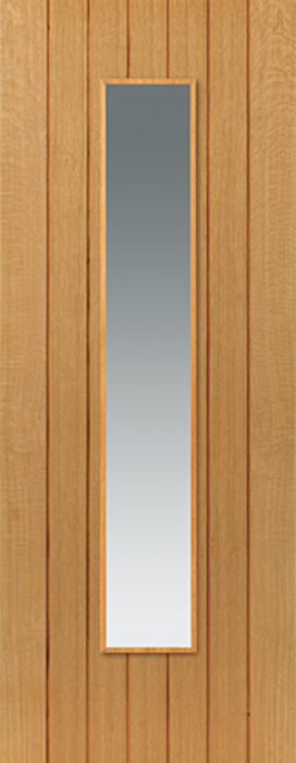 Cherwell Glazed Oak Door