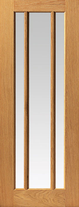 Darwen 3-light Glazed Oak Internal Door - JB Kind Doors