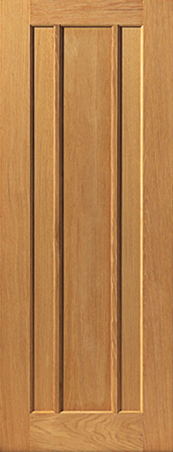JBK Eden 3-Panel Oak Internal Doors