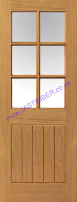 Thames 6-light Glazed Oak Door