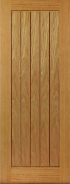 THAMES DOOR: T&G Effect *Unfinished OAK* veneer 35mm & 40mm Internal Door - JB Kind Doors