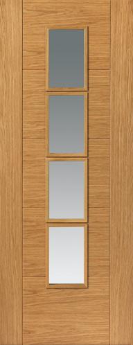 Bela 4l Clear Glazed Pf Oak 35mm Jb Kind Door