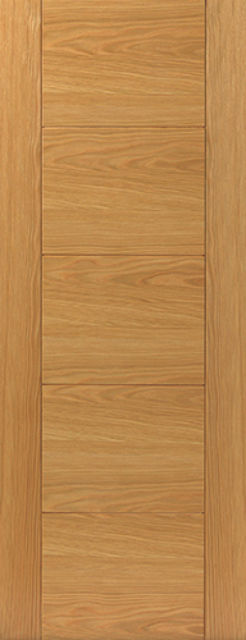 Tigris Door: V-Groove *Pre-Finished Oak* 35mm Internal - JB Kind Oak Contemporary Doors