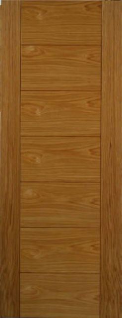 VP7 Door: Flush *Pre-Finished Oak* 35mm Internal Door - JB Kind Oak Contemporary Doors