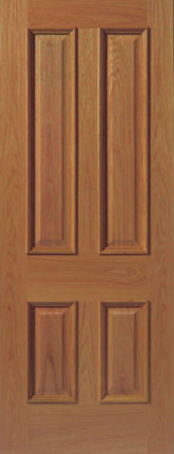 E14M Door: 4-Panel *Pre-Finished Oak* +RM+ 35mm Internal Door - JB Kind Oak Classic Door