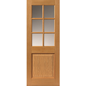 Arden 6-light Glazed Oak Door - JB Kind Doors