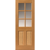 Dean 6-light Glazed Oak Door - JB Kind Doors