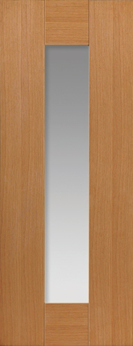 Axis 1-light Glazed Oak Internal Door