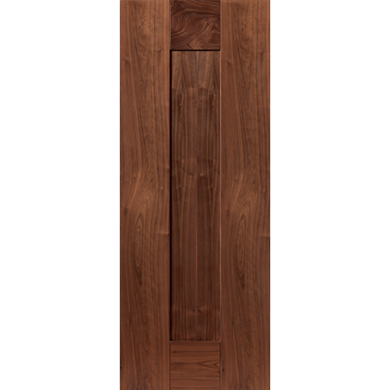 Axis Fire Door: FD30 1-Panel Walnut 44mm Internal Door - JB Kind Walnut Doors