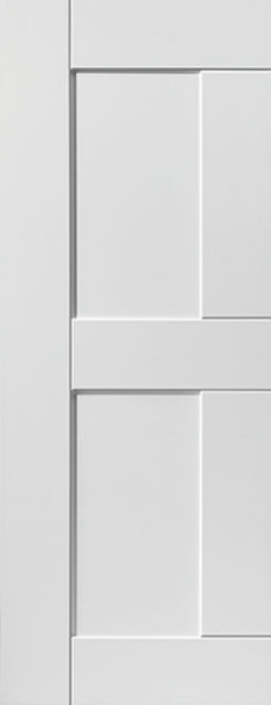 Eccentro Door: 2-Panel White Primed 35mm Internal Door - JB Kind White Shaker Doors