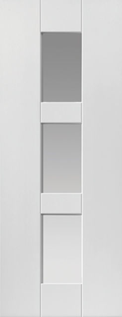 GEO Glazed DOOR: 2-light Glazed White Primed 35mm Internal Door - JB Kind Symmetry Doors